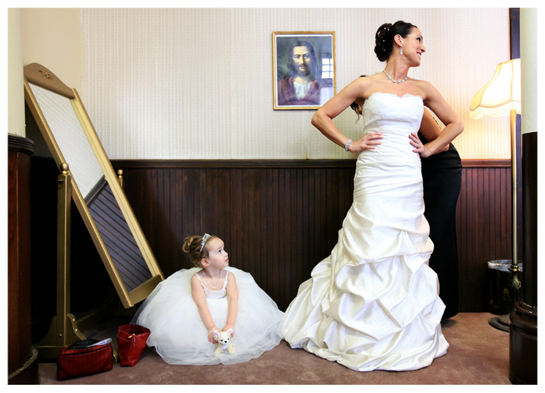 Nashville Bride with Daughter